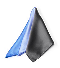 Kenneth Roberts Platinum® Men's Blue Multi Pocket Square