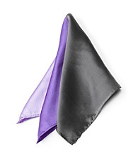 Kenneth Roberts Platinum® Men's Purple Multi Pocket Square