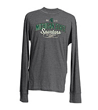 J. America® Men's Charcoal Vintage Michigan State Team Graphic Tee
