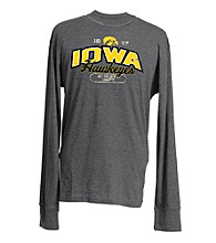 J. America® Men's Charcoal Vintage Iowa Team Graphic Top
