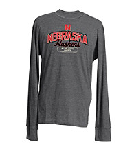J. America® Men's Charcoal Vintage Nebraska Team Graphic Tee
