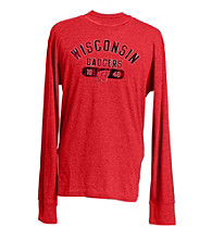 J. America® Men's Red Vintage Wisconsin Team Graphic Top