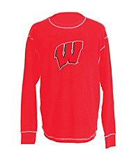 J. America® Men's Red Vintage Wisconsin Team Thermal