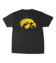 J. America® Men's Black Vintage Iowa Mascot Tee