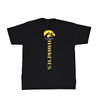 J. America® Men's Black Iowa Vertical Logo Tee