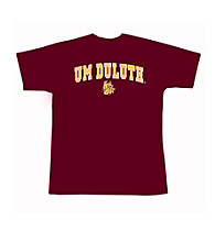 J. America® Men's Maroon University of Minnesota Duluth Arch Logo Tee