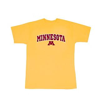 J. America® Men's Gold Minnesota Arch Logo Tee