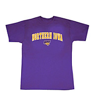 J. America® Men's Purple Northern Iowa Arch Logo Tee