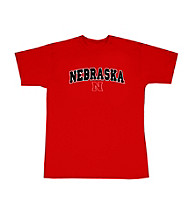 J. America® Men's Red Nebraska Arch Logo Tee