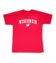J. America® Men's Red Wisconsin Arch Logo Tee