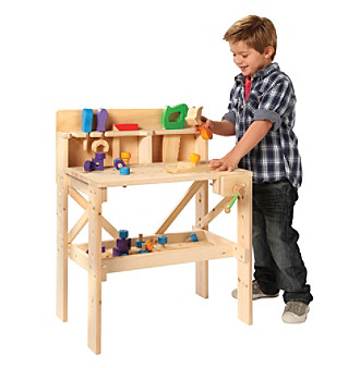 kids wood workbench