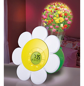 Discovery Kids® Projection Daisy Bloom Clock