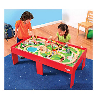 Discovery Kids® Wood Train Set and Table