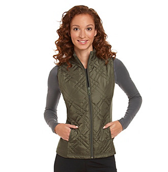Exertek® Diamond Quilted Vest with Fleece Side