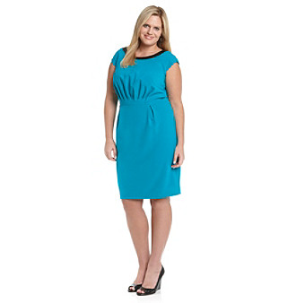 Calvin Klein Plus Size Gathered Seam Dress