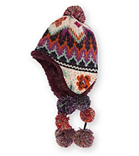 MUK LUKS® Girls Boho Fur Lined Pommy Helmet