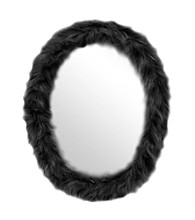 Lumisource Oval Furr Mirror Black