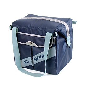 California Innovations® 54 Can Navy Ultra Light Rolling Cooler with All Terrain Cart