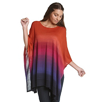 Jones New York Signature® Petites' Ombre Horizontal Knit Cape