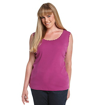 Jones New York Sport® Plus Size Lace-Trimmed Tank