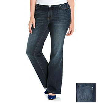 DKNY JEANS® Plus Size Chelsea Wash Curvy Bootcut Five-Pocket Jeans
