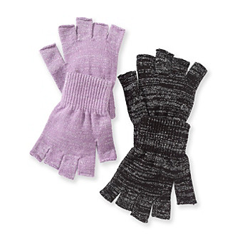 Exclusively ours! Warm your hands while keeping your fingers free to maneuver in these cute, quirky fingerless gloves from Mambo.