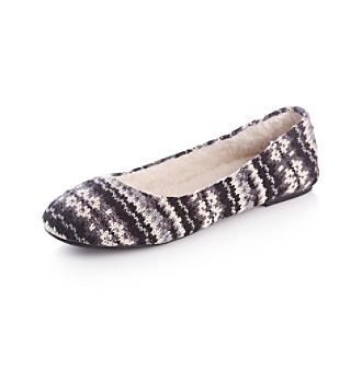 "Rampage® ""Mosco"" Sweater Ballet Flat - Black/Grey Multi"