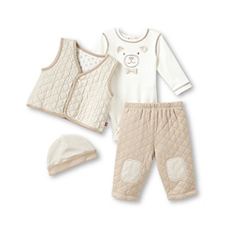 Little Me® Baby Boys' 4-pc. Brown Bear Pants Set