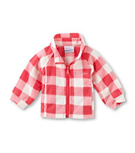 Columbia Baby Girls' Pink Check Benton Springs™ Fleece Jacket