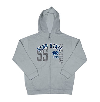 J. America® Boys' 8-20 Grey Penn State Full-zip Fleece Hoodie