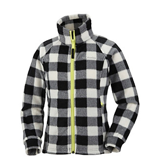 Columbia Girls' 7-16 Black Plaid Benton Springs™ Fleece Jacket