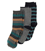 Statements Boys' Navy/Grey Multi-striped Socks