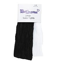 Miss Attitude Girls' 2-pk. Black/White Lace Tights