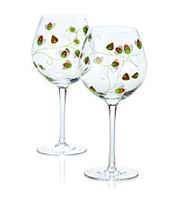 Luigi Bormioli Social Ave Set of 2 Green UR Vino Red Wine Glasses