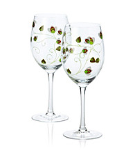 Luigi Bormioli Social Ave Set of 2 Green UR Vino All-Purpose Wine Glasses
