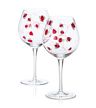Luigi Bormioli Social Ave Set of 2 Pink UR Vino Red Wine Glasses