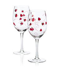 Luigi Bormioli Social Ave Set of 2 Pink UR Vino All-Purpose Wine Glasses
