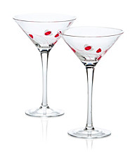 Luigi Bormioli Social Ave Set of 2 Pink UR Vino Martini Glasses