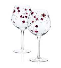 Luigi Bormioli Social Ave Set of 2 Purple UR Vino Red Wine Glasses