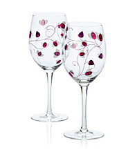 Luigi Bormioli Social Ave Set of 2 Purple UR Vino All-Purpose Wine Glasses