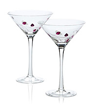 Luigi Bormioli Social Ave Set of 2 Purple UR Vino Martini Glasses
