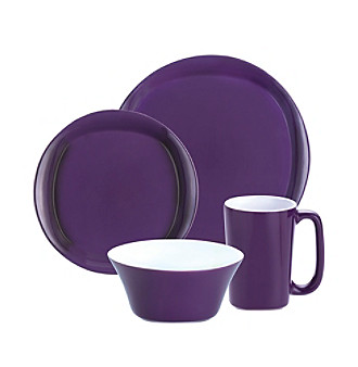 Rachael Ray® Purple Round and Square 16-pc. Dinnerware Set