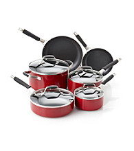 Guy Fieri Nonstick 10-pc. Red Cookware Set