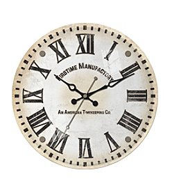 FirsTime Clarity Glass Whisper Wall Clock