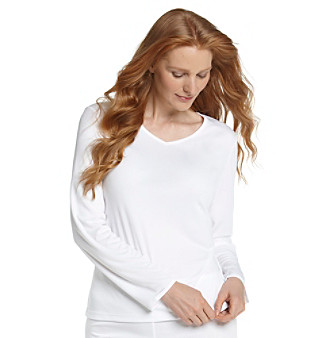 Cuddl Duds® ClimateSmart™ Long Sleeve V-Neck Plus Size Top