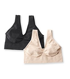Barelythere® Soft Taupe/Black CustomFlex Fit® Get Cozy 2 Pack Bras