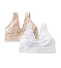 Barelythere® White/Soft Taupe Custom Flex Fit Get Cozy 2 Pack Bras