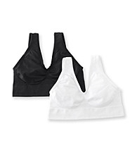 Barelythere® White/Black Custom Flex Fit Get Cozy 2 Pack Bras