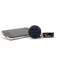 Infinite International, Inc. Rhinestone Black Ball Keychain Speaker