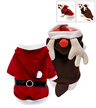 FouFou Dog™ Reversible Santa and Reindeer Suit